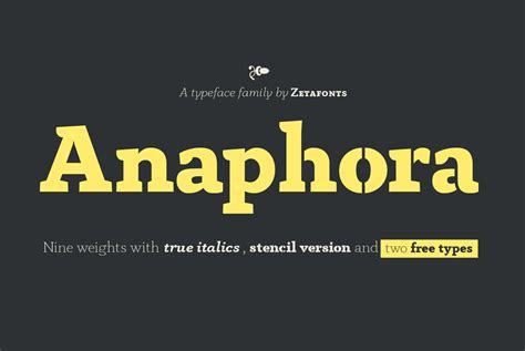 anaphora font family befontscom
