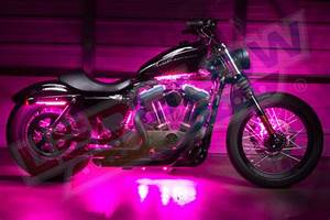 Ledglow Advanced Pink Smd Led Motorcycle Accent Lighting Kit
