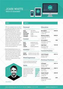 creative resume cv by ikonome graphicriver With creative resume