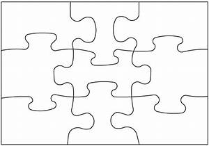 two sided blank post card puzzle 9 pieces 5 pack With large blank puzzle pieces template