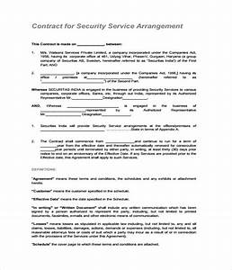 21 contract templates free word pdf documents download With security contracts templates