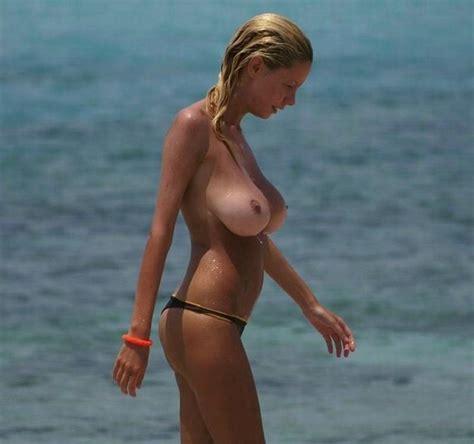 big boob at the beach