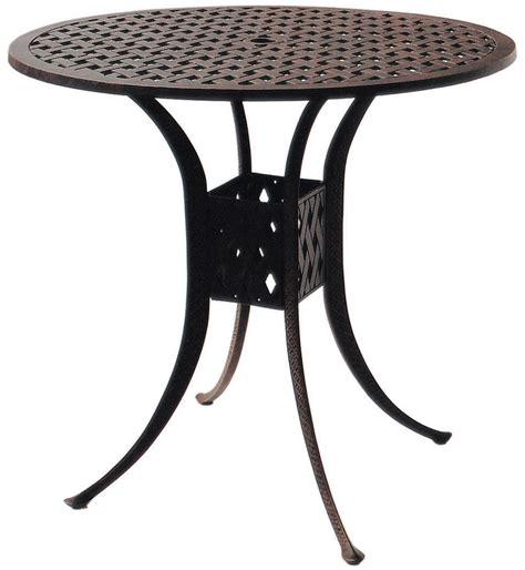 patio furniture table bar cast aluminum 42 quot series 30
