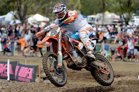 motocross racing 2014 kirk gibbs wins gladstone mx nationals mcnews com au