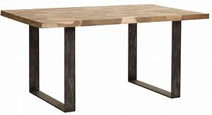 Table Bois Et Metal Salle Manger : table salle manger table mosaique pied m tal et teck lisse blanc gris noir en m lange m73 ~ Teatrodelosmanantiales.com Idées de Décoration