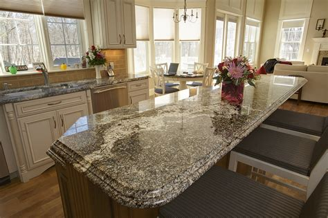 classic kitchen design with kitchen island granite