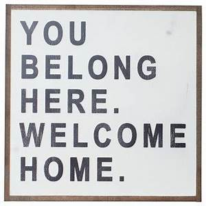 """You Belong Here"" Sign, 2x2 ft. - Traditional - Novelty ..."