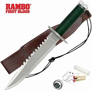 Licensed Rambo I First Blood Fixed Blade Knife | BUDK.com ...