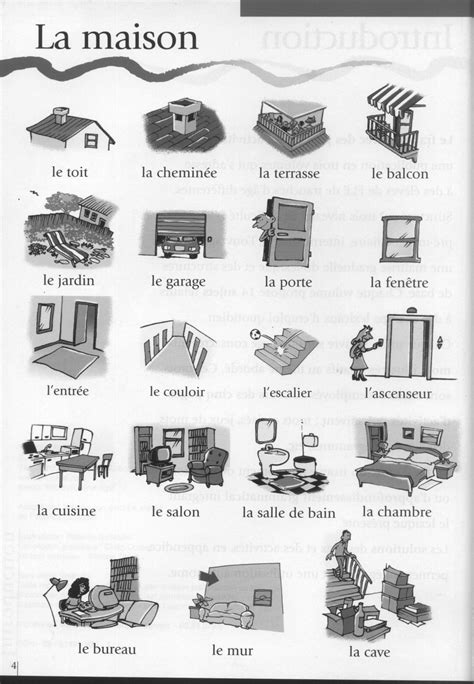 les chambres de la maison apprenons français ensemble types de logement en