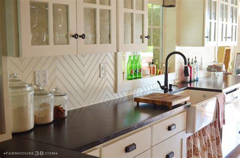 diy kitchen backsplash diy herringbone beadboard backsplash farmhouse38
