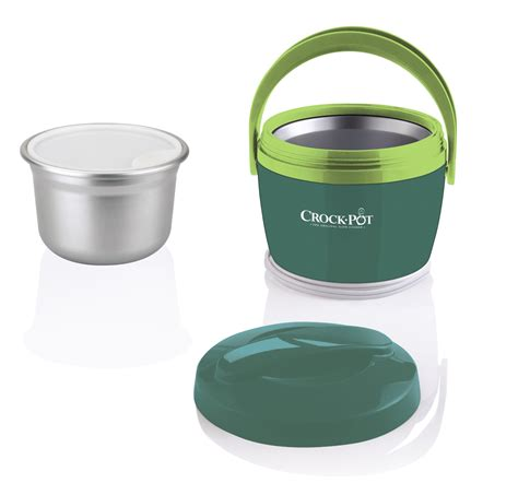 cooking light crock pot crock pot lunch food warmer portable travel container lid