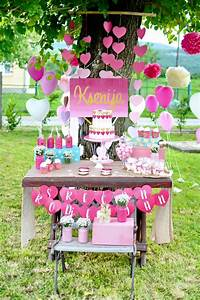 Kara's Party Ideas LOVE Pink Ombre + Gold Birthday Party ...