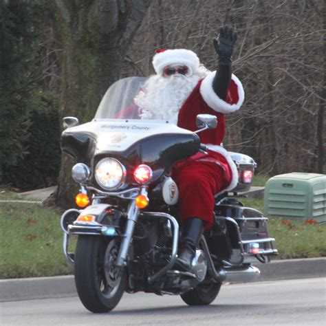 santa trades sleigh for motorcycle germantown pulse news