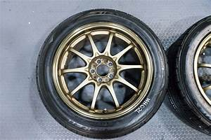 4 Used Jdm 17x8 Volk Racing Ce28 Wheels By Rays