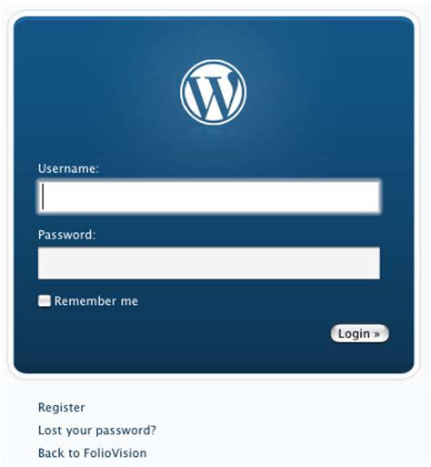 Redesign The Wordpress Login Via A Plugin