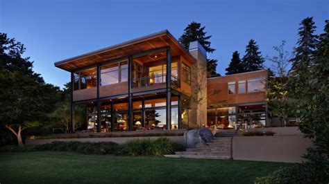 Large Contemporary House Plans Contemporary Lake House