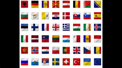 National Flags Of European Countries