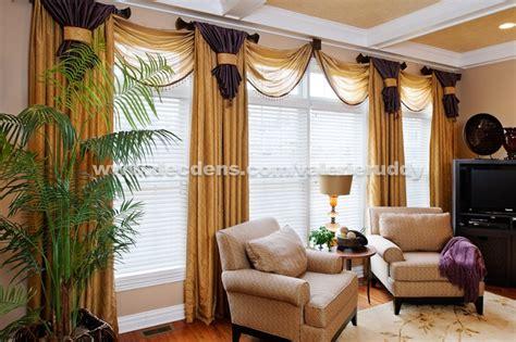 elegant family room window treatments drapery
