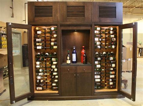 Refrigerated Wine Cabinet Furniture by Custom Wine Storage Refrigerated Wine Cabinets Wine