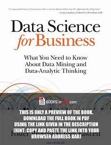 Data Science for Business PDF Free Ebook Textbook ...