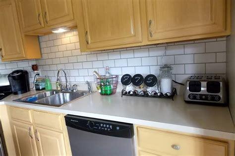 backsplash subway tiles for kitchen 13 removable kitchen backsplash ideas 7575
