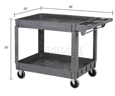 Large Deluxe 2 Shelf Plastic Utility & Service Cart 5 Plastic Container Manufacturers Recycle Bottles Staedtler Mars White Eraser Large Trophy Cup Oasis Surgery Raleigh Nc Stone Wall Square Tube