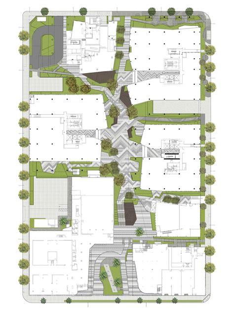 architect plans columbia square rios clementi hale studios
