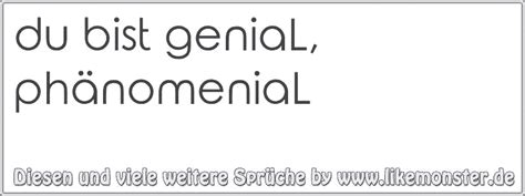 Du Bist Genial by Du Bist Genial Ph 228 Nomenial Tolle Spr 252 Che Und Zitate Auf