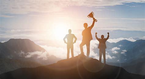 Achievement and Business Goal Success Concept - Creative ...