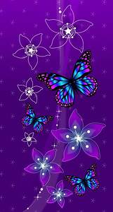 Purple blue butterfly | Wallpapers! | Pinterest | Purple ...