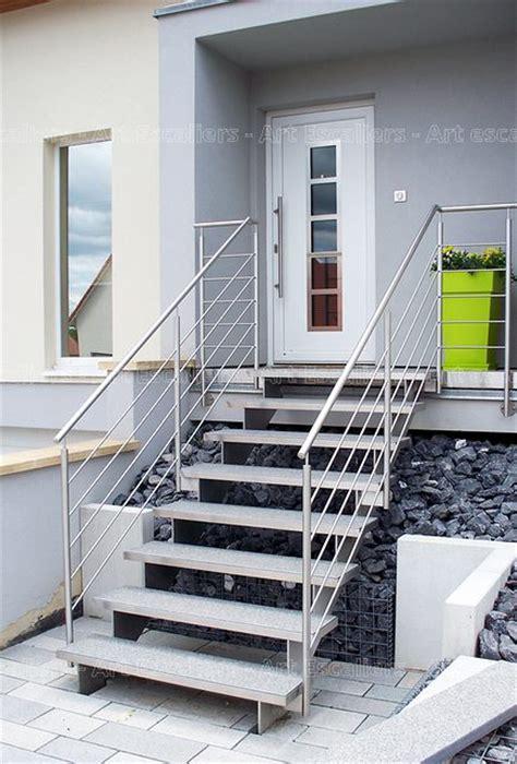 Escalier Exterieur Metal Escalier Ext 233 Rieur Bois M 233 Tal Inox Escaliers