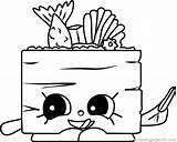 Sushi Coloring Shopkins Suzie Printable Coloringpages101 sketch template