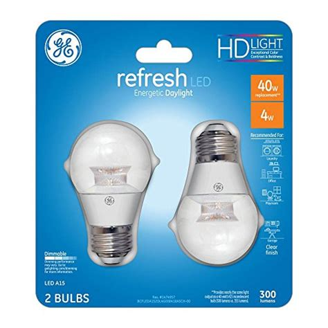 ge refresh 40w equivalent daylight 5000k energetic high