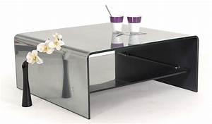 Table Basse Miroir : table basse verre miroir vitro ~ Melissatoandfro.com Idées de Décoration