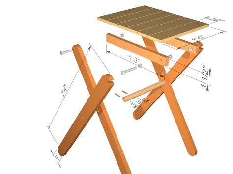 wood folding table  woodworking