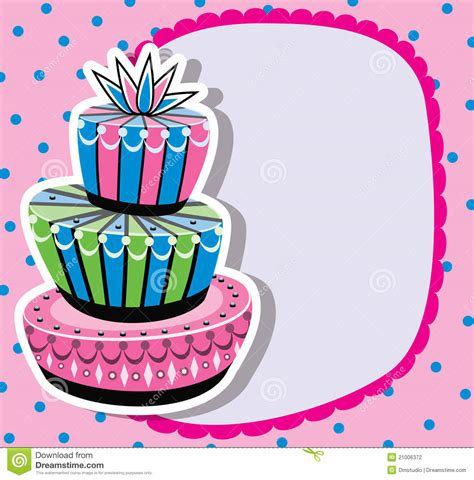 birthday cake  copy space stock photography image