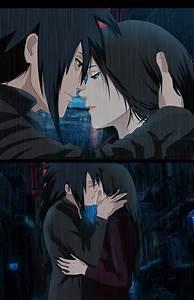Madara x Haruko(OC) Kiss Under the rain by Lesya7 on ...