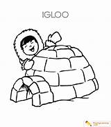Igloo Coloring Eskimo Pages Sheet Learning Date sketch template