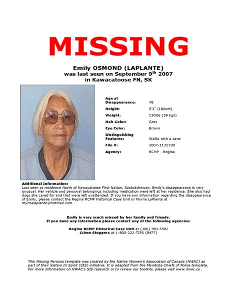 missing person template missing person poster template free