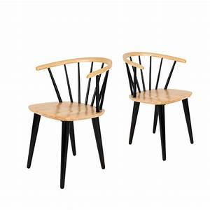 Lot Chaises Scandinaves : lot de 2 chaises style scandinave 50 39 s en bois gee by ~ Teatrodelosmanantiales.com Idées de Décoration