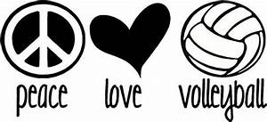 Peace, Love, Volleyball, Vinyl, Bedroom, Wall, Decal, Sticker