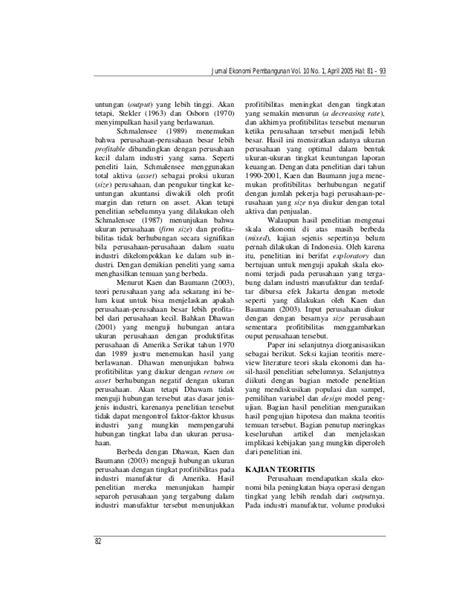 Jurnal Hadri Kusuma Tentang Ukuran Perusahaan