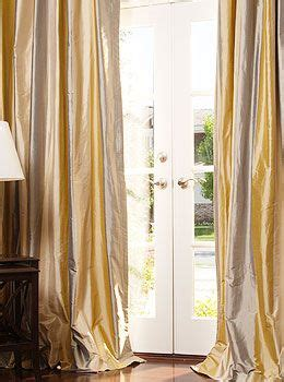 Silk Striped Drapes - signature silk dupioni striped drapery window treatments