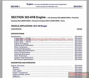 Ford Ranger 2012 Workshop Manual