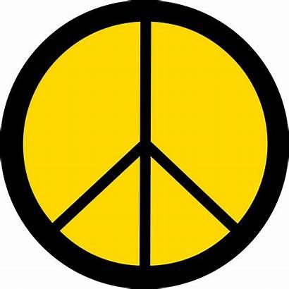 Symbols Clip Peace Symbol Clipart Yellow