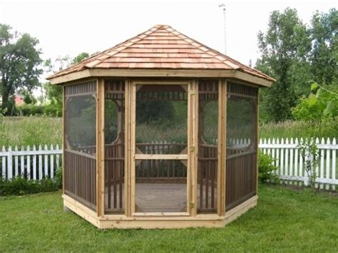 collection  wooden screened gazebo
