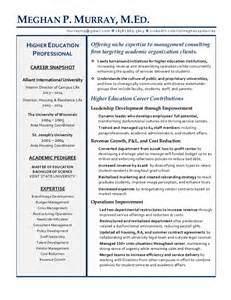 resume objective for educational consultant meghan murray managment consultant higher education resume
