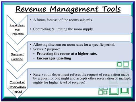 front office revenue management  application