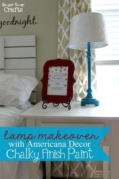 Americana Decor Chalky Finish Paint Tutorial by Snap Crafts L Makeover With Americana Decor