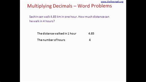 multiplication with decimals word problems kidz activities